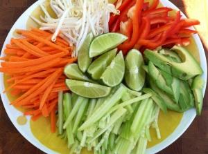 summer rolls veggies