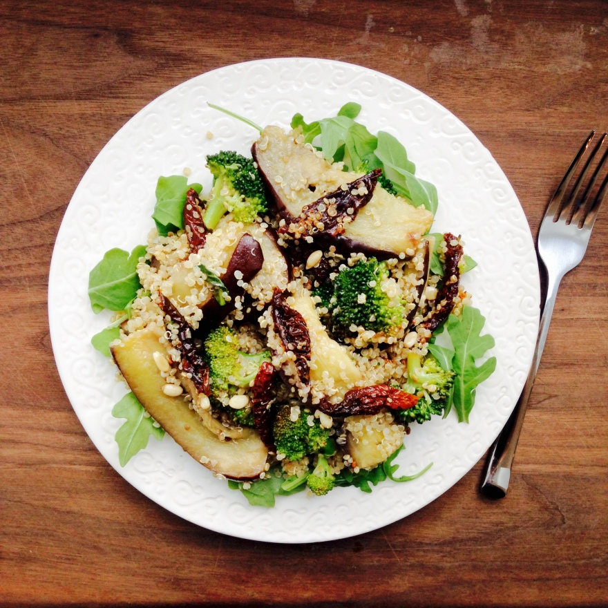 Roasted Aubergine with Sun-Dried Tomatoes and Quinoa | the flexible ...